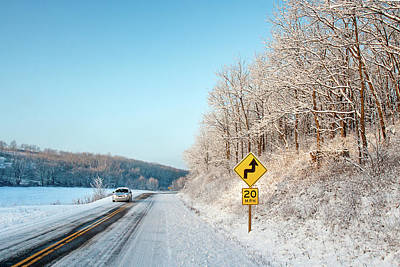 Photograph - Driving On Dangerous Winter Roads by Todd Klassy