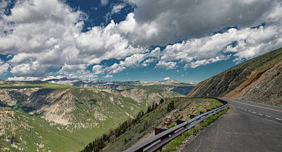Travel Rights Managed Images - Driving the Beartooth Highway Royalty-Free Image by Marcy Wielfaert