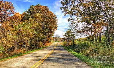 Photograph - Driving Through Autumn In Radford Virginia by Kerri Farley