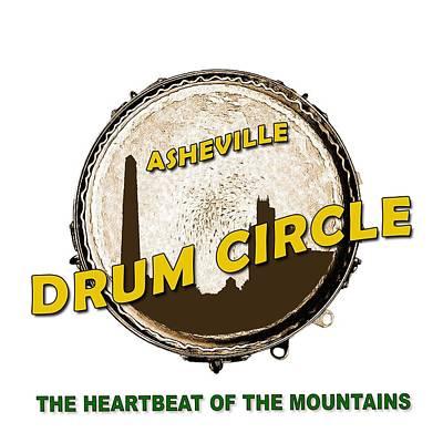 Digital Art - Drum Circle Logo by John Haldane