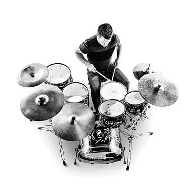 Musicians Photos - Drummer from above by Johan Swanepoel