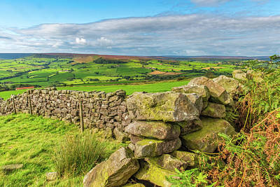Photograph - Drystone Wall, Danby, North York Moors by David Ross