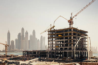 Dubai Construction Art Print by Borchee