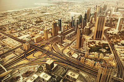 Dubai Skyline With Downtown Aerial View Art Print by Franckreporter