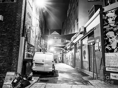 Photograph - Dublin Alley Scene At Night by John Rizzuto