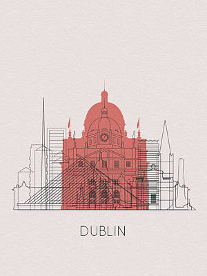 Digital Art - Dublin Landmarks by Inspirowl Design