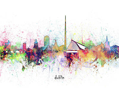 Abstract Skyline Royalty-Free and Rights-Managed Images - Dublin Skyline Artistic by Bekim M
