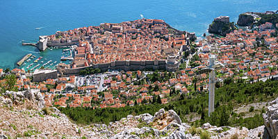 Photograph - Dubrovnik Panorama From The Hill by Milan Ljubisavljevic