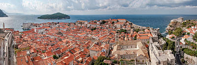 Photograph - Dubrovnik Rooftops And Lokrum Island Against The Dalmatian Adriatic by Weston Westmoreland