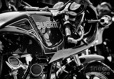 Photograph - Ducati Mike Hailwood Replica Monochrome by Tim Gainey