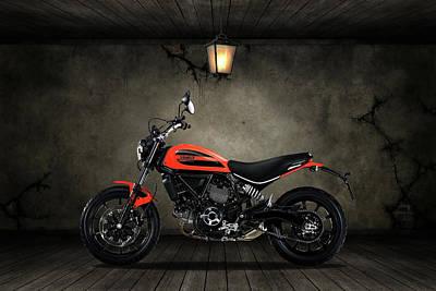 Mixed Media - Ducati Scrambler Old Room by Smart Aviation