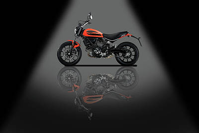 Mixed Media - Ducati Scrambler Spotlight by Smart Aviation