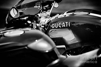 Photograph - Ducati Sport 1000s Monochrome by Tim Gainey