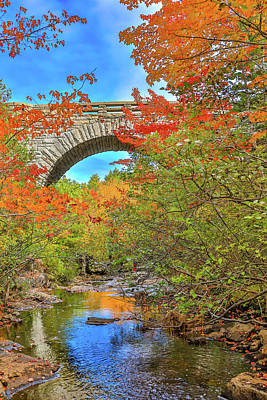 Photograph - Duck Brook Bridge In Autumn by Dan Sproul