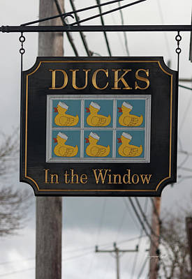 Photograph - Ducks In The Window by Suzanne Gaff