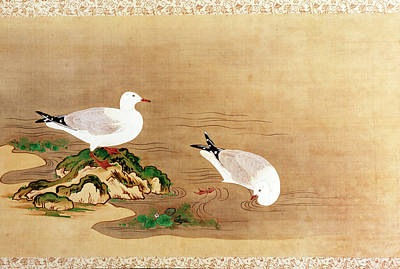 Painting - Ducks, Japanese Art, Handscroll by Superstock