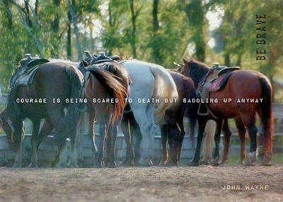 Dude Ranch Quote Art Print by JAMART Photography