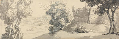 Drawing - Dudley Castle by Thomas Rowlandson