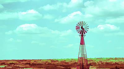 Digital Art - Dueling Tones Windmill by Jason Fink