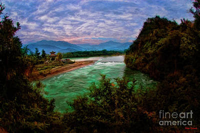 Photograph -  Dujiangyan Irrigation System by Blake Richards