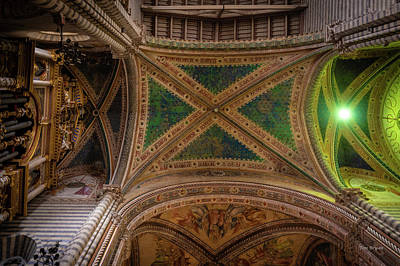Photograph - Dumo De Orvieto Ceiling by Tim Bryan