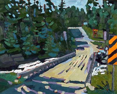 Painting - Dumoine La Chute Bridge by Phil Chadwick