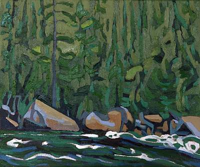 Painting - Dumoine Rapids by Phil Chadwick