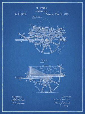 Drawing - Dumping Cart Patent by Dan Sproul