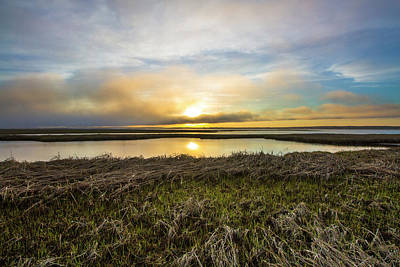Photograph - Dune Road Wetlands Sunset by Robert Seifert