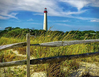 Photograph - Dunes At Cape May Light by Nick Zelinsky
