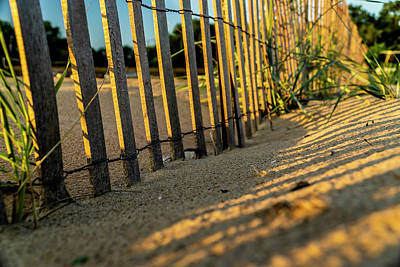 Photograph - Dunes Fence At Sun Rise by Sven Brogren