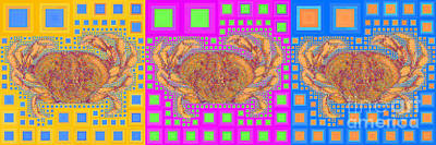 Photograph - Dungeness Crab In Abstract Squares 20190203 Long Wide by Wingsdomain Art and Photography
