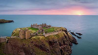 Castle Ruins Wall Art - Photograph - Dunnottar Sunrise by Dave Bowman