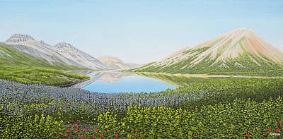 Painting - Duo Lake Yukon by Kenneth Kirsch