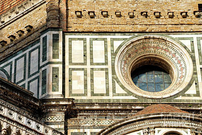Photograph - Duomo Di Firenze Cupola Window by John Rizzuto