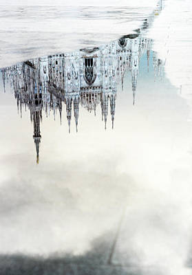 Photograph - Duomo Reflected In A Puddle Of Water by Gary Yeowell