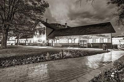 Photograph - Durango Colorado Train Station At Dawn - Classic Sepia by Gregory Ballos