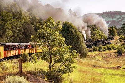 Photograph - Durango Railroad Blowing Smoke - Colorado Mountain Landscape by Gregory Ballos