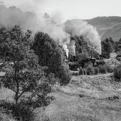 Photograph - Durango Railroad - Square Colorado Mountain Landscape by Gregory Ballos