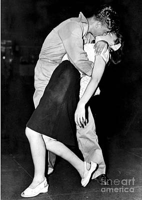 Photograph - During Victory In Japan Day Vj Day, A by New York Daily News Archive