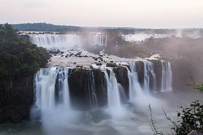Photograph - Dusk At Iguazu Falls by Alex Lapidus