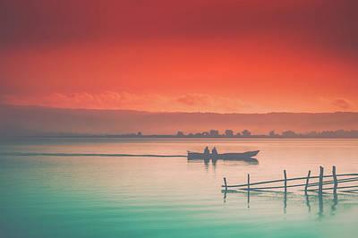 Photograph - Dusk At Lake Poso  by Marji Lang