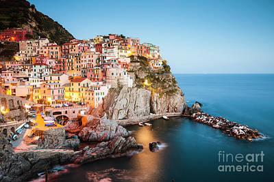 Photograph - Dusk In Manarola, Cinque Terre, Liguria, Italy by Matteo Colombo