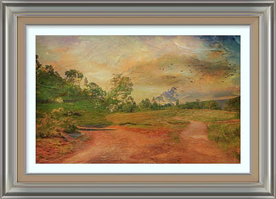 Mixed Media - Dusk In The Hills by Clive Littin