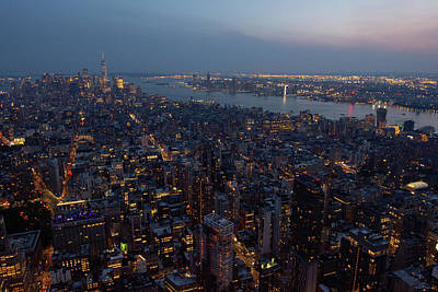 Photograph - Dusk On New York City by Crystal Wightman