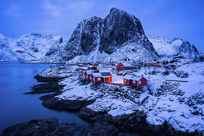 Photograph - Dusk Over Hamnoy by Michael Blanchette