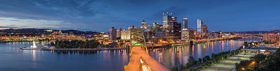 Photograph - Dusk Over Pittsburgh  by Emmanuel Panagiotakis