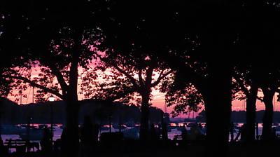 Photograph - Dusk Sky on the Harbor by SJ Lindahl