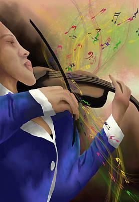 Digital Art - Dusting Off The Violin by April Burton