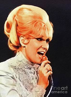 Music Paintings - Dusty Springfield, Music Legend by Esoterica Art Agency